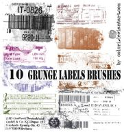 Grunge Labels Brushes by colori