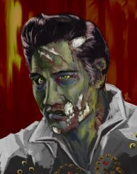 zombie elvis by tacosushi