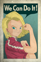 Android 18 the Wrecker by DFJonesArt