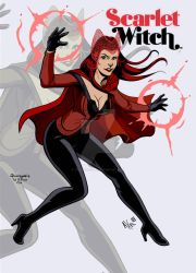 Scarlet Witch by Axel Medellin by THE-Darcsyde