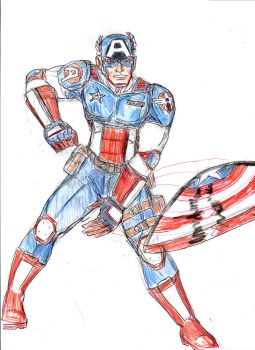 Captain America redesign by theaven