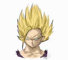 Gohan Sketch by INecari