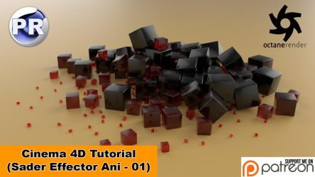 Shader Effector Animation 01 (Cinema 4D Tutorial) by NIKOMEDIA
