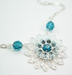 Blue Star Necklace by SpottedOctopus