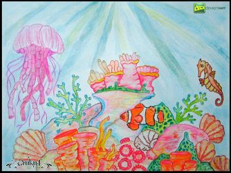 coral reef ( sea horse , anemone fish ) by Cankut-Art