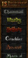 15 Photoshop Text Effects by survivorcz
