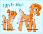 Goldfish Sea Pony Adoptable