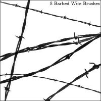 Barbed Wire Brushes by Sakura222-stock
