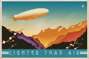 Art Deco Airship by PaulRomanMartinez