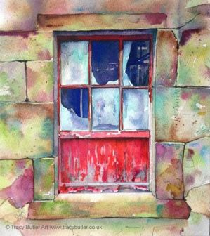 Old Farm Window by tracybutlerart