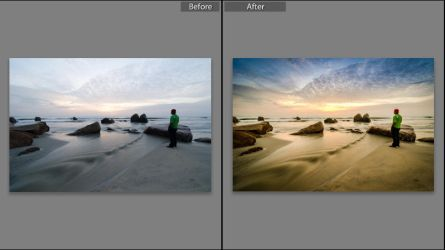 Lightroom Preset of Sun Rising at the beach. by shaffandi