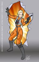 Tyria Sarkin X-Wing Pilot by Inspector97