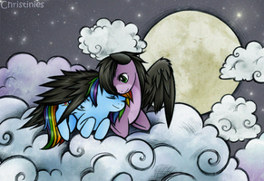 Skywind and Rainbow Dash by Christinies