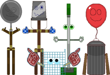 Trash and The Gang by IestynPritchard