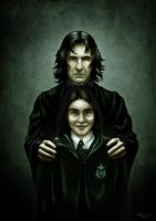 Snape and his student by Lucius-Ferguson