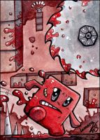ACEO - Super Meat Boy by Lumary92