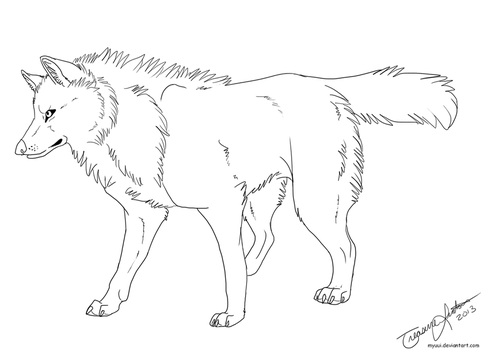 Gray Wolf Template by Myuui