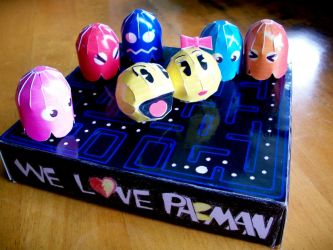We Love Pacman Papercraft by scodex