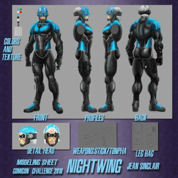 CCC2010 NIGHTWING Modelingshee by JeanSinclairArts