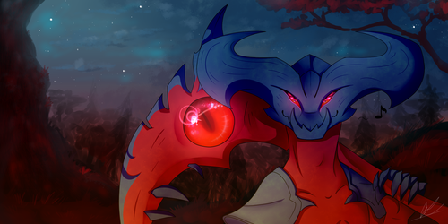 Midnight strool with rhaast by ConiLiqui