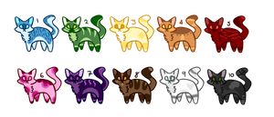 Rainbow Kitties (CLOSED) by VeggieAdopts