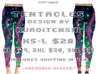 Tentacles Winter Legging Design by kuroitenshi13
