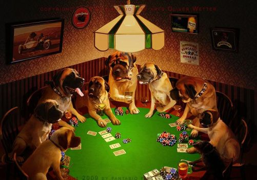 Beware of the poker dogs by fantasio