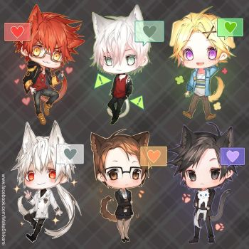 mystic messenger chibis by Shikaama