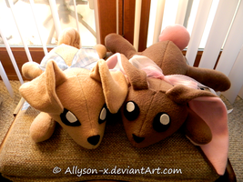 Bunny and Doggy Plush by Allyson-x