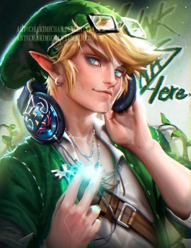 Hipster Link by sakimichan