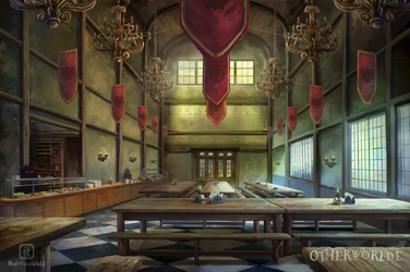 [C] Blackthorne cafeteria by MalthusWolf