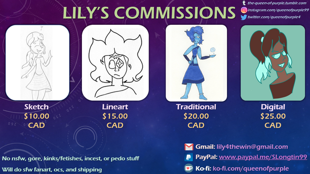 Queen-Of-Purple's Commission Sheet by Queen-Of-Purple
