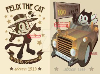 Felix the cat 100 anniversary by eliana55226838