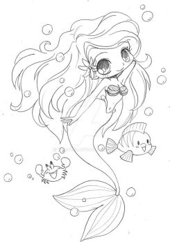 Little Mermaid Chibi by YamPuff