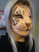 Human/tiger hybrid mask test by Puzzels