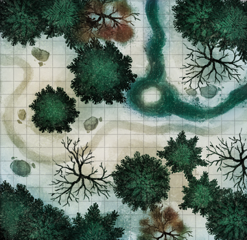 Encounter map: snowy stream by The-Monster-Shop