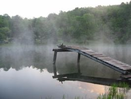 Dock in the fog by dolarbill3