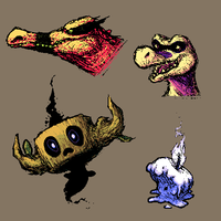 MSPaint Pokedoodles Colored by Amphibizzy