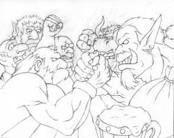 Grudge Match - WIP 2 by GH-MoNGo