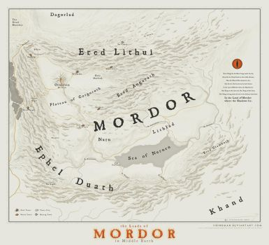 The lands of Mordor by SirInkman