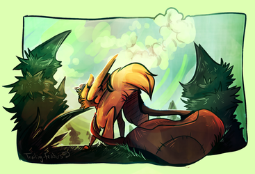 Meet Me In the Woods by Trailing-Feathers
