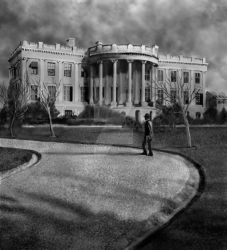 Whitehouse with Cloudy Sky by LocationCreator