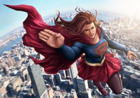 Supergirl Fly by AgusSW