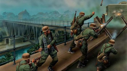 3rd Reich TROOPS 1940 FJ SECURING THE BRIDGE by PanzerBob