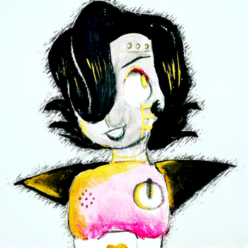 Mettaton In Gold by Syico