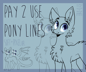 P2U BASE : pony lines (soft+pixel ver.) by D-Dyee