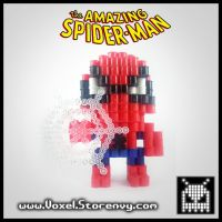 Spiderman 3D Voxel Perlerbead (Amazing #Spiderman) by VoxelPerlers