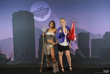 Nidalee and Forecast Janna Cosplay PCC by CryingGypsy