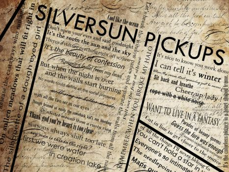 Silversun Pickups Typography. by unagihime
