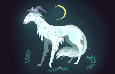 Witch Borzoi by Valhalrion